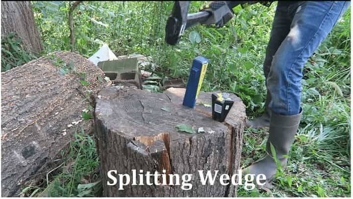 split wood with a wedge